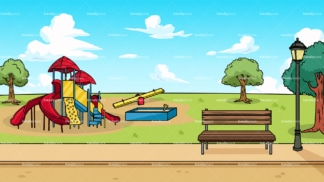 City playground background in 16:9 aspect ratio. PNG - JPG and vector EPS file formats (infinitely scalable).