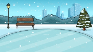 City ice rink background in 16:9 aspect ratio. PNG - JPG and vector EPS file formats (infinitely scalable).