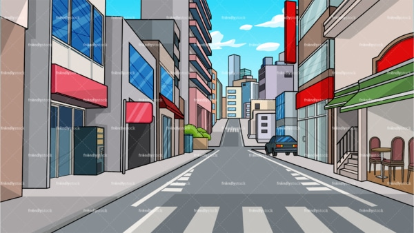 City street background in 16:9 aspect ratio. PNG - JPG and vector EPS file formats (infinitely scalable).