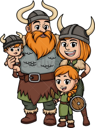Viking family. PNG - JPG and vector EPS (infinitely scalable). Image isolated on transparent background.