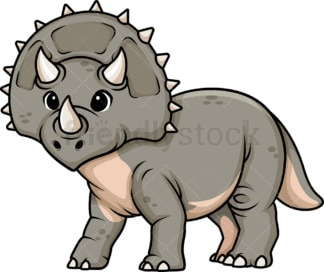 Adorable triceratops dinosaur. PNG - JPG and vector EPS (infinitely scalable).