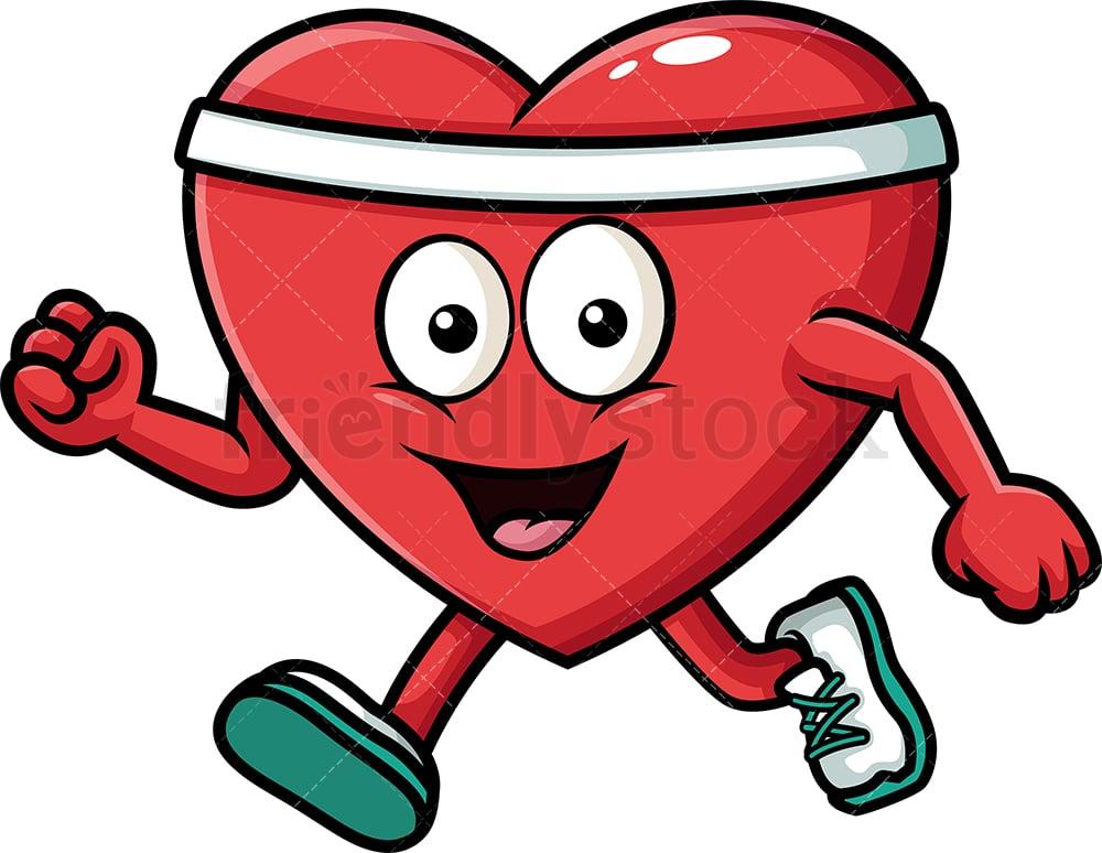 Healthy Heart Exercising Cartoon Vector Clipart Friendlystock