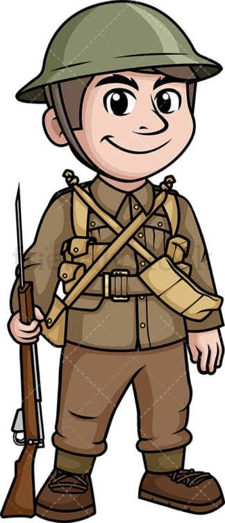 World War 2 British soldier. PNG - JPG and vector EPS (infinitely scalable).
