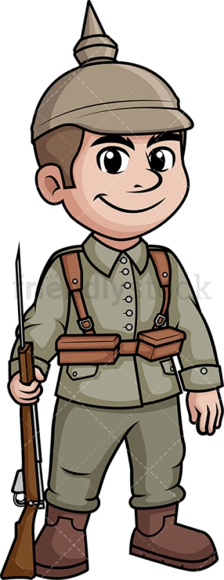 World War 1 German soldier. PNG - JPG and vector EPS (infinitely scalable).
