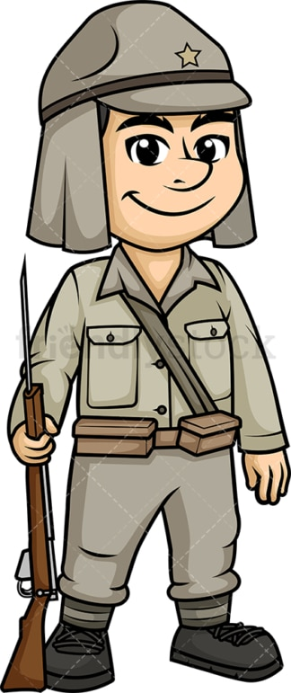World War 2 Japanese soldier. PNG - JPG and vector EPS (infinitely scalable).