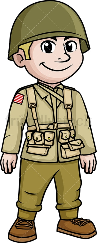 World War 2 American soldier. PNG - JPG and vector EPS (infinitely scalable).