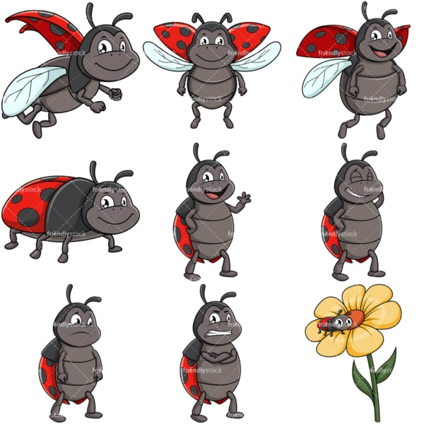 Cute ladybug. PNG - JPG and vector EPS file formats (infinitely scalable).
