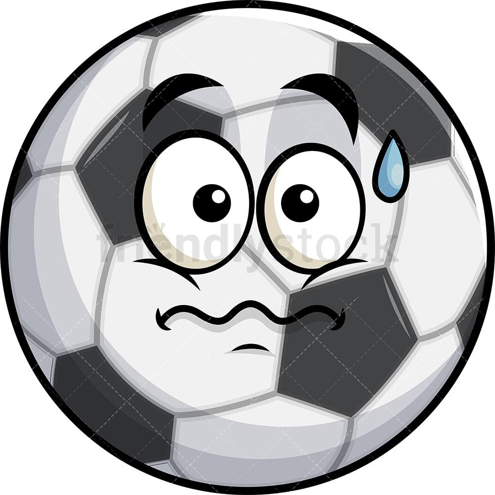 Anxious Soccer Ball Emoji