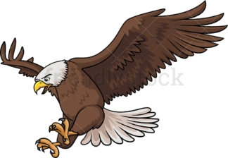 Bald eagle landing. PNG - JPG and vector EPS (infinitely scalable).