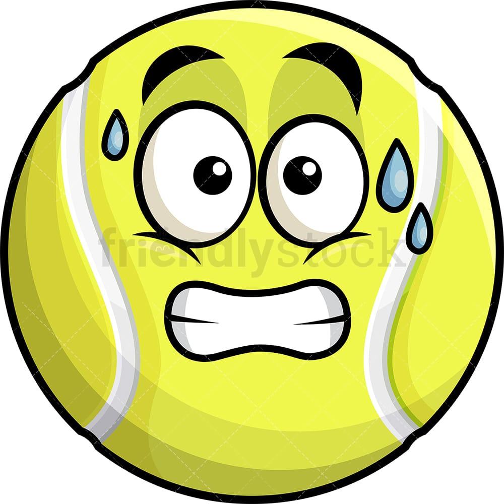 Sweating Tennis Ball Emoji