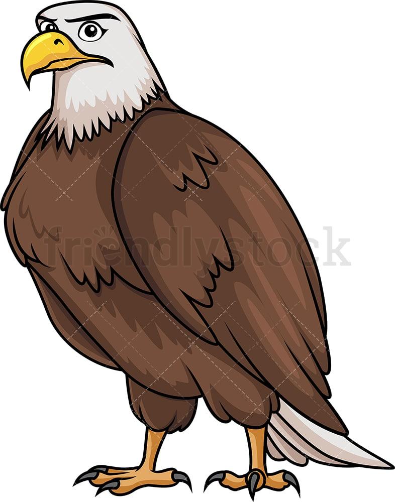brave bald eagle cartoon clipart vector - friendlystock  friendlystock
