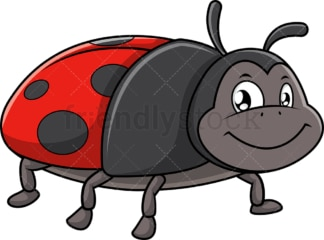Smiling ladybug. PNG - JPG and vector EPS (infinitely scalable).