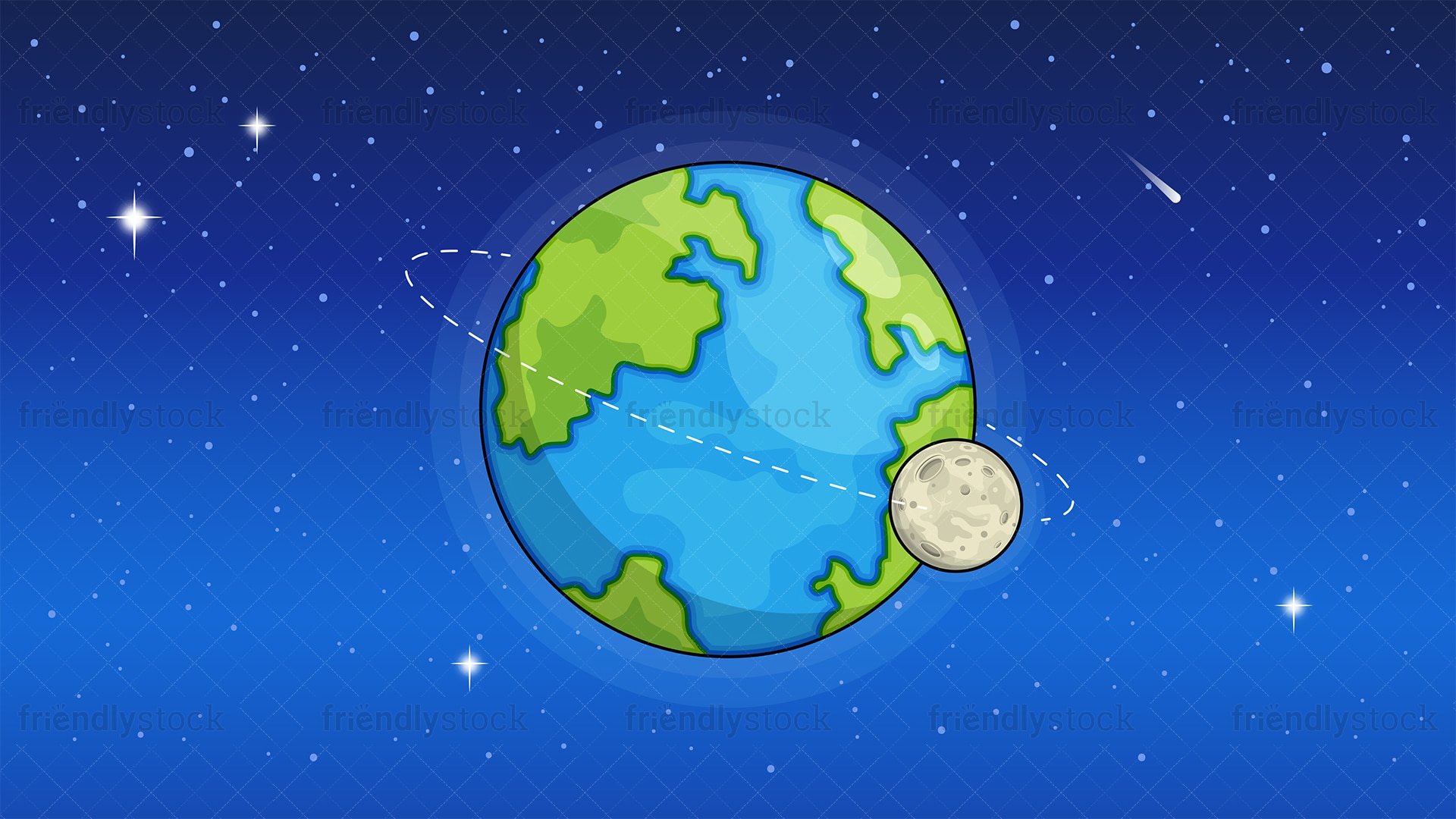 Earth From Space Background Cartoon Clipart Vector - FriendlyStock