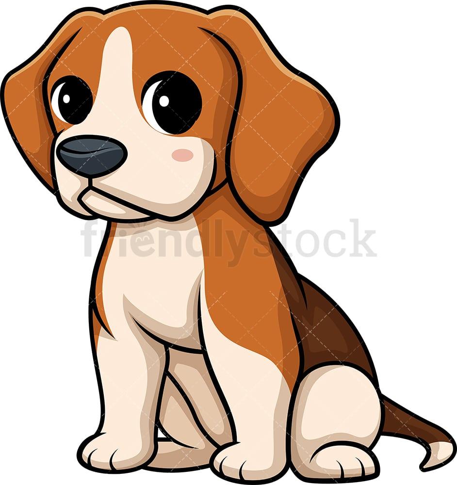 Christmas Beagle Clipart.Kawaii Beagle