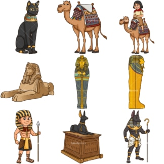 Ancient egypt. PNG - JPG and infinitely scalable vector EPS - on white or transparent background.