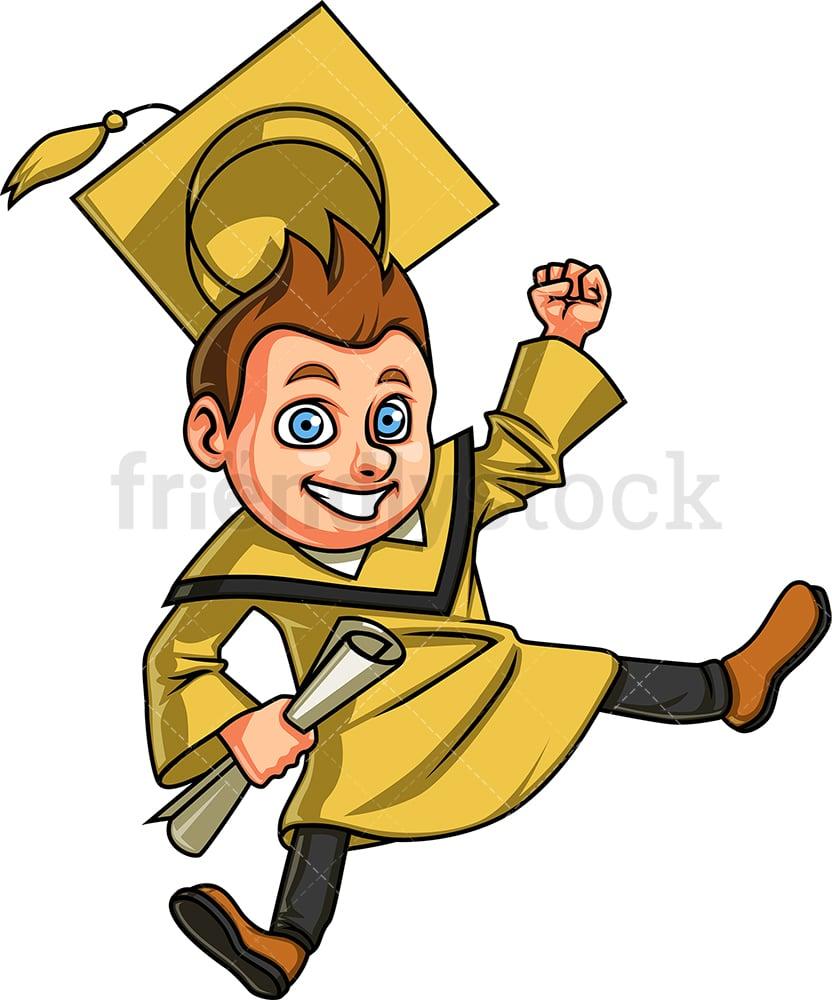 Happy Boy Graduating