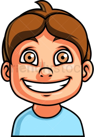Little boy smiling face. PNG - JPG and vector EPS file formats (infinitely scalable). Image isolated on transparent background.