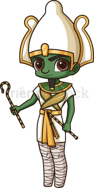 Ancient egyptian god osiris. PNG - JPG and vector EPS file formats (infinitely scalable). Image isolated on transparent background.