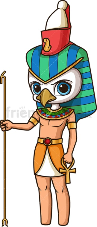 Ancient egyptian god horus. PNG - JPG and vector EPS file formats (infinitely scalable). Image isolated on transparent background.
