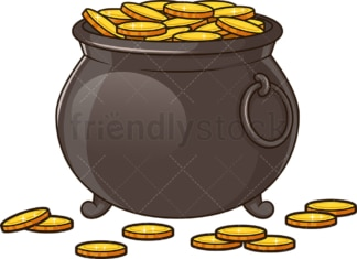 Pot of gold. PNG - JPG and vector EPS (infinitely scalable). Image isolated on transparent background.