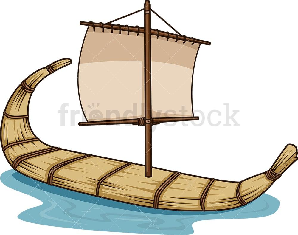 Ancient Egyptian Boat Cartoon Vector Clipart Friendlystock