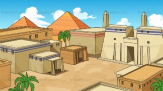 Ancient egyptian city background in 16:9 aspect ratio. PNG - JPG and vector EPS file formats (infinitely scalable).