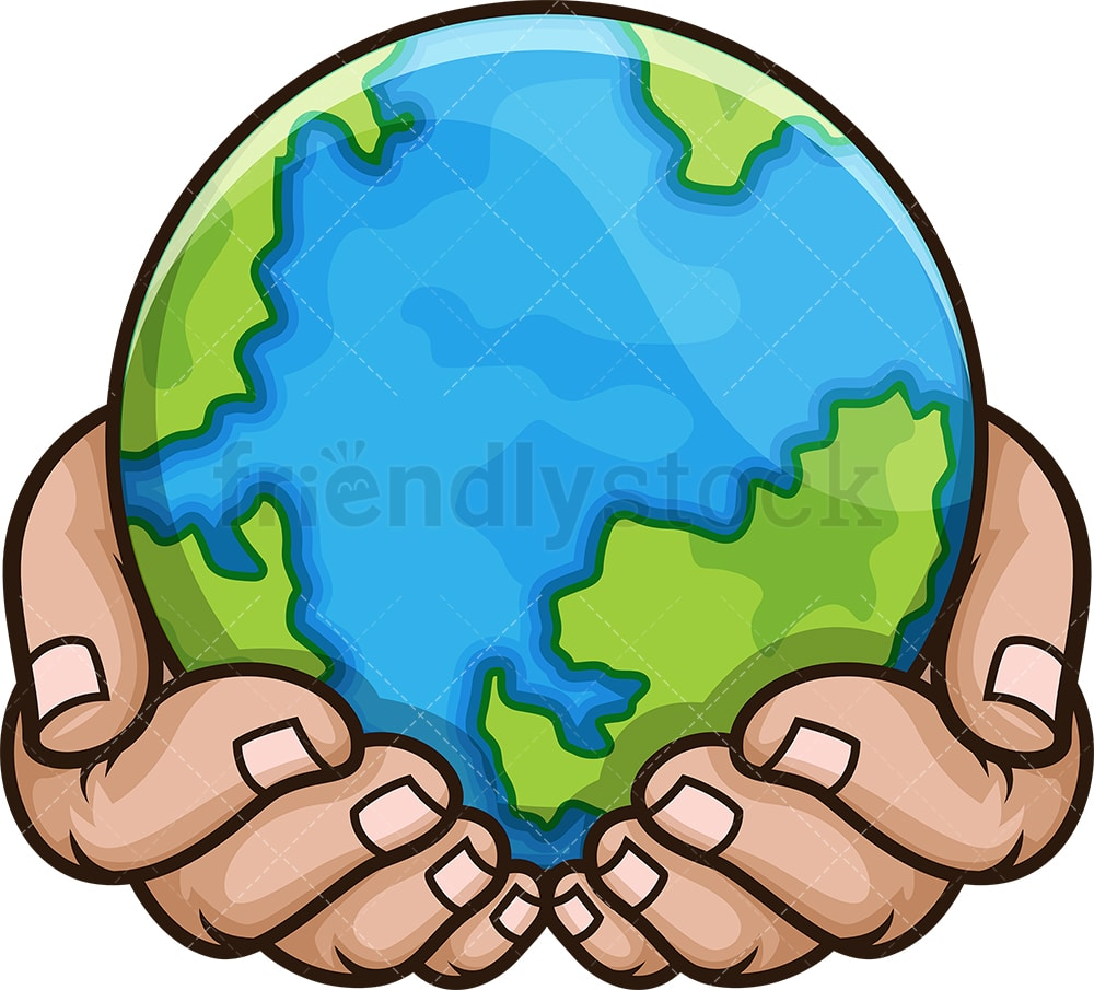 Hands Holding The Earth Cartoon Vector Clipart Friendlystock The resolution of png image is 640x480 and classified to earth vector ,earth day ,hand holding phone. hands holding the earth cartoon vector clipart friendlystock