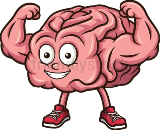 Strong brain flexing muscles. PNG - JPG and vector EPS (infinitely scalable).