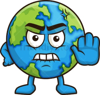 Angry earth. PNG - JPG and vector EPS (infinitely scalable).