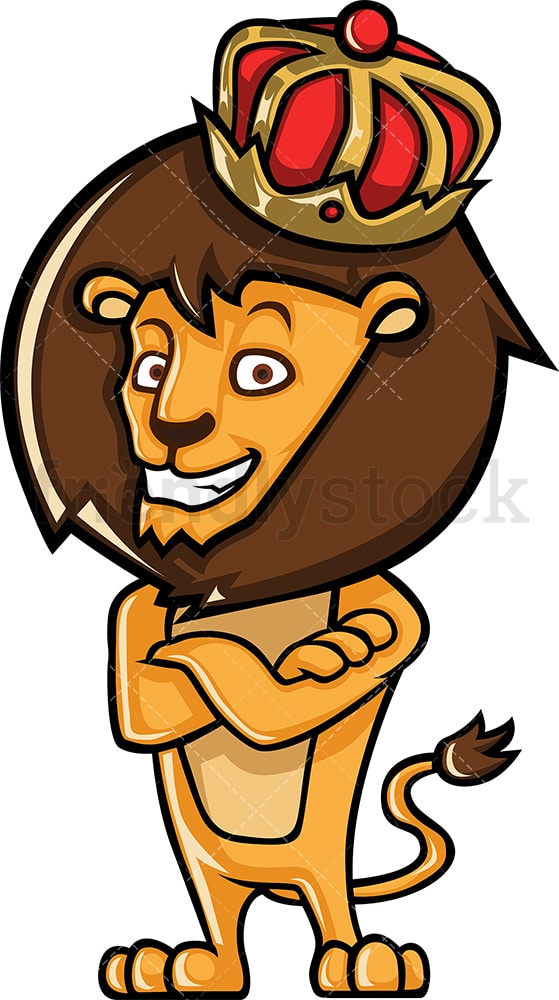 Crown Wearing Lion King Cartoon Clipart Vector Friendlystock Choose from 700+ cartoon crown graphic resources and download in the form of png, eps, ai or psd. crown wearing lion king cartoon clipart vector friendlystock