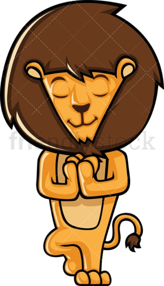Lion doing yoga. PNG - JPG and vector EPS (infinitely scalable).