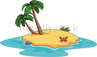 Smal desert island. PNG - JPG and vector EPS (infinitely scalable).