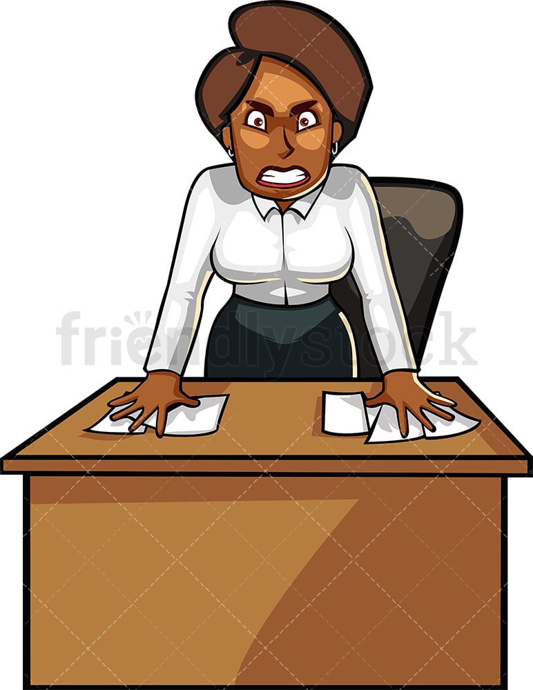 Young African American Angry Woman Making Crossed Arms Sign Says.. Royalty  Free Cliparts, Vectors, And Stock Illustration. Image 72366485.