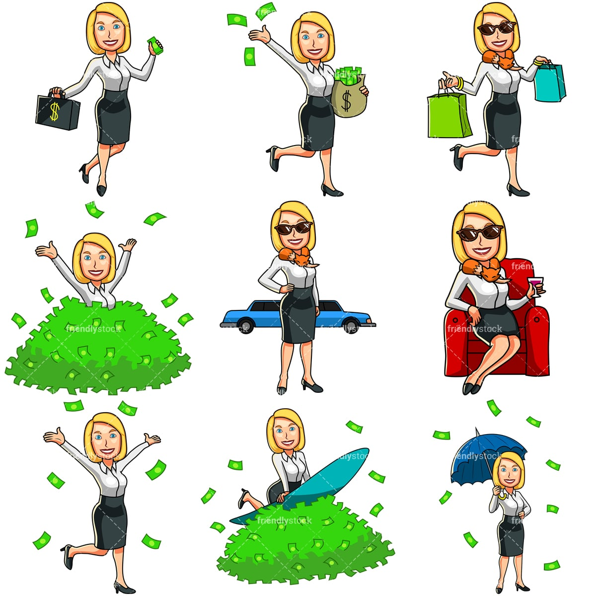 Rich Family Stock Vector Illustration And Royalty Free Rich Family Clipart