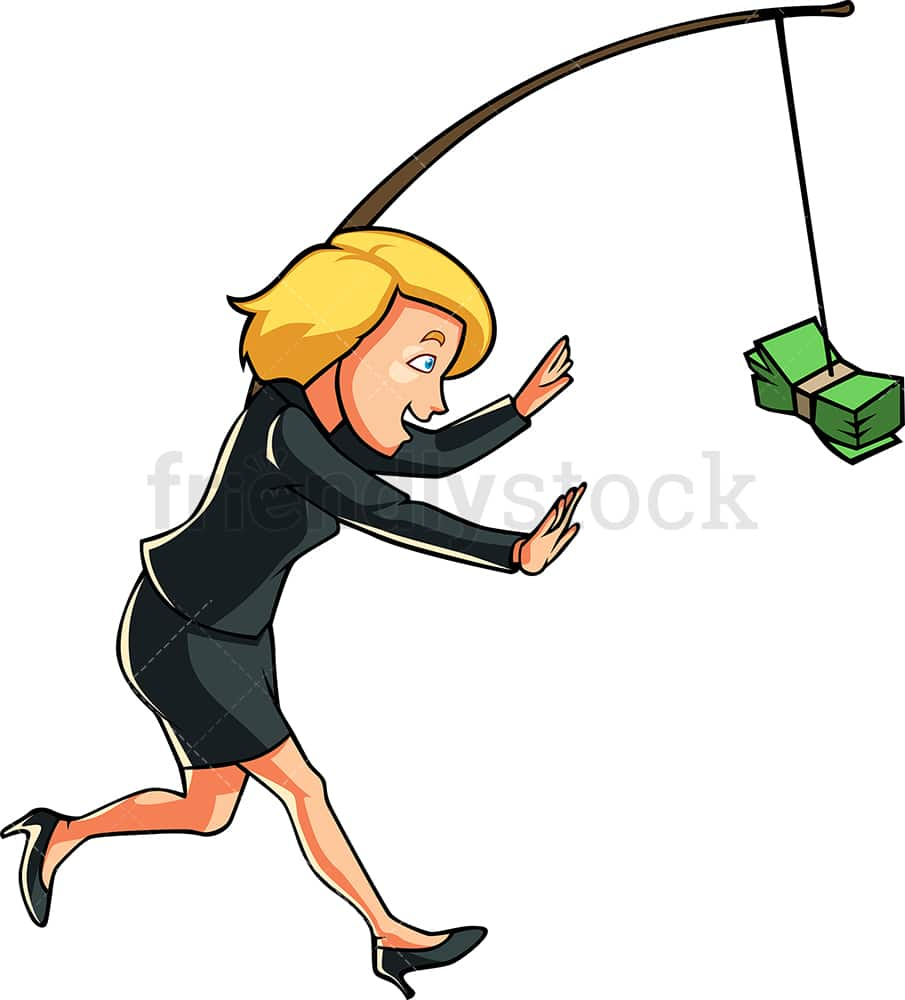 Cartoon Style Man, Running With The Bag Of Money, Image Stock Vector -  Illustration of cartoon, smile: 94204993