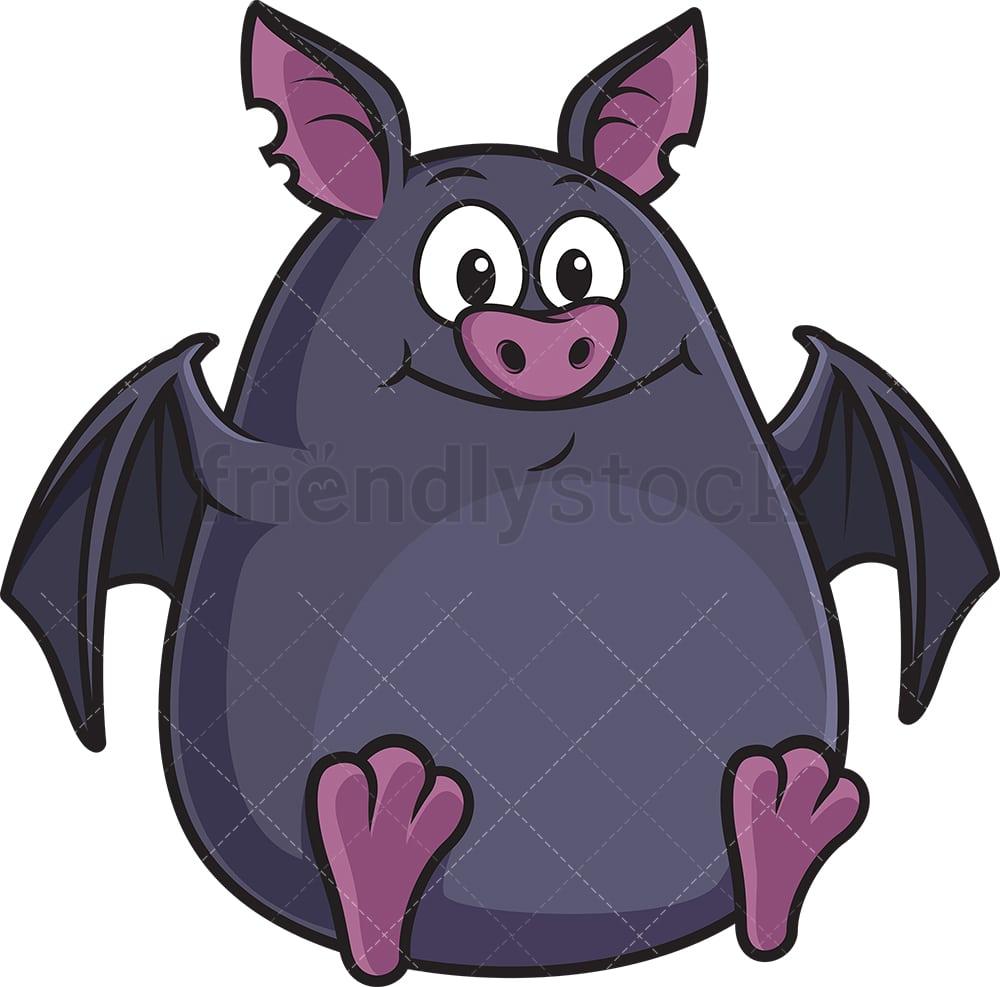 A Picture Of A Cartoon Bat fat bat