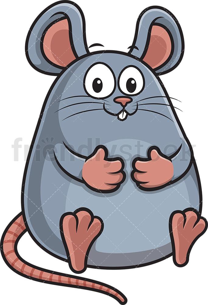 Fat Mouse Cartoon Clipart Vector Friendlystock