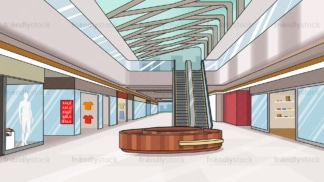 Shopping mall interior background in 16:9 aspect ratio. PNG - JPG and vector EPS file formats (infinitely scalable).