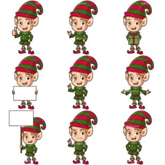 Christmas elf. PNG - JPG and infinitely scalable vector EPS - on white or transparent background.