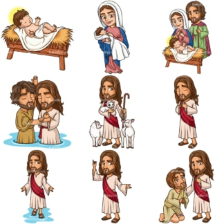Jesus Christ Vectors. PNG - JPG and infinitely scalable EPS - on white or transparent background.