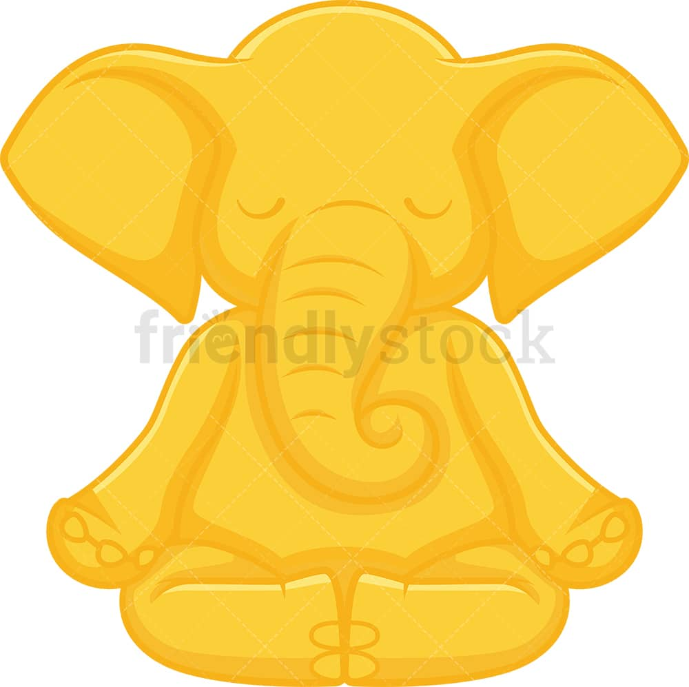 Golden Elephant Cartoon Vector Clipart Friendlystock Are you looking for gold elephant design images templates psd or png vectors files? golden elephant cartoon vector clipart friendlystock