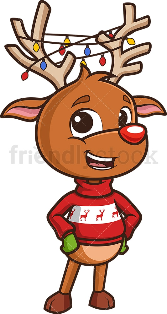 Reindeer Antlers Clipart - Sven Antlers Photo Prop - Free Transparent PNG  Clipart Images Download