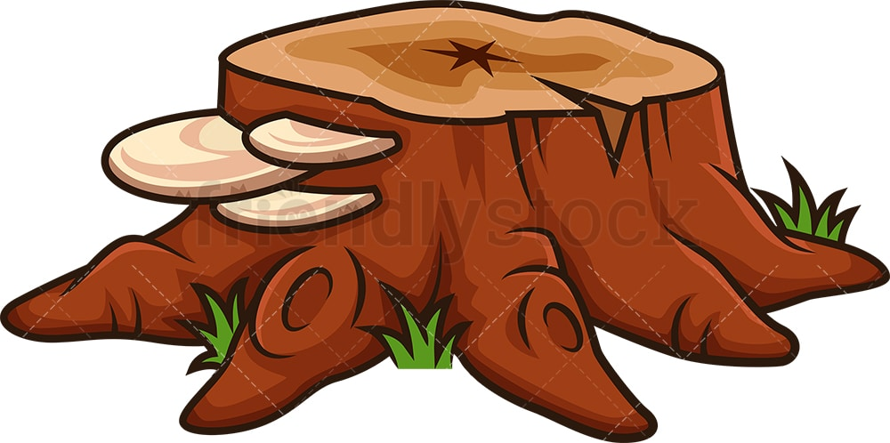 Cartoon Tree Trunk : Template of tree with branches.