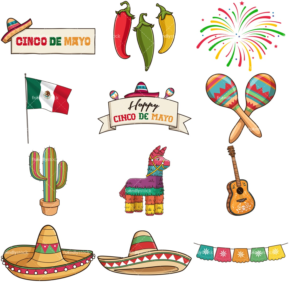 Cinco De Mayo Clipart Vector Collection Friendlystock