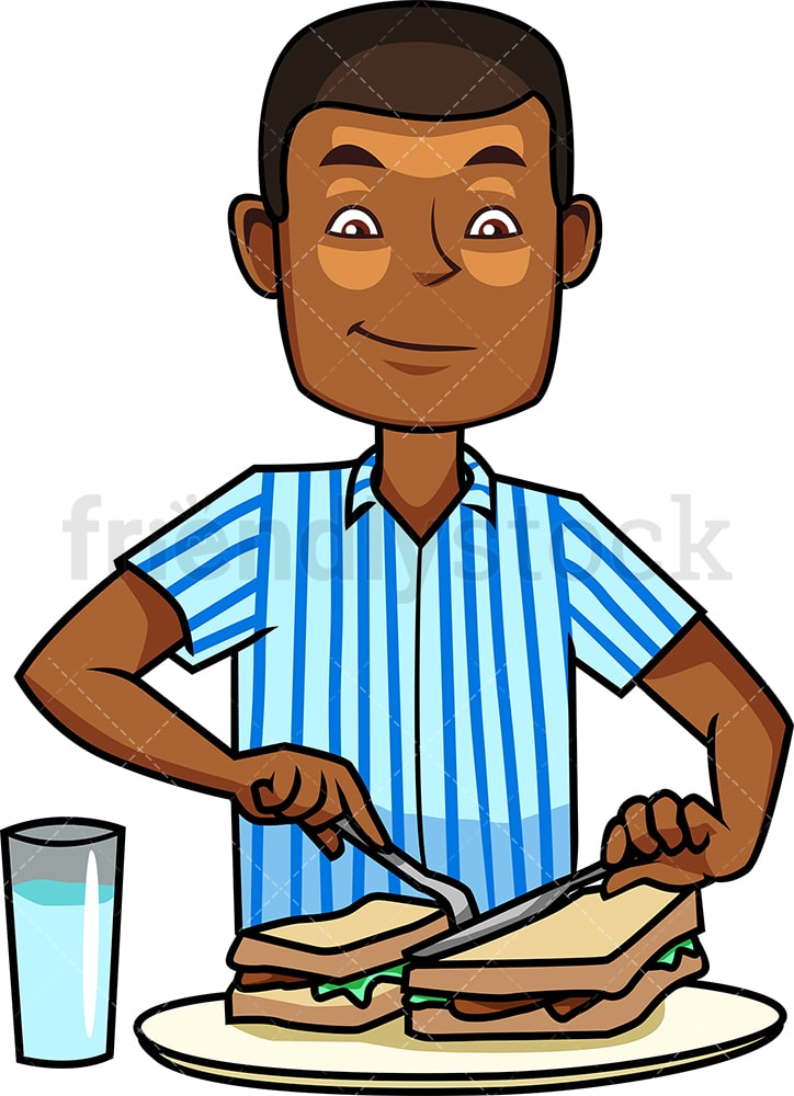 black man making breakfast cartoon vector clipart friendlystock black man making breakfast cartoon vector clipart friendlystock