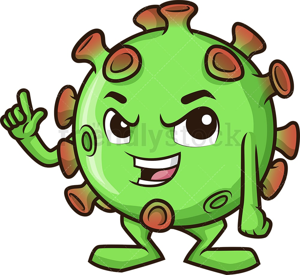 Mad Coronavirus Cartoon Clipart Vector Friendlystock