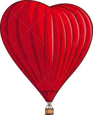 Heart shaped hot air balloon. PNG - JPG and vector EPS (infinitely scalable).