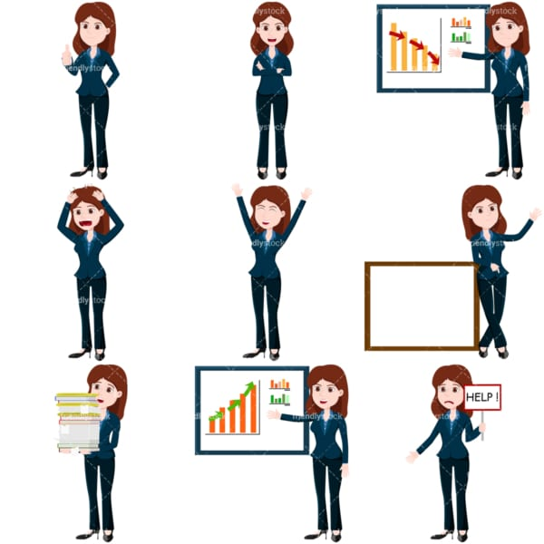 Business collection #2 lana. PNG - JPG and vector EPS file formats (infinitely scalable). Images isolated on transparent background.