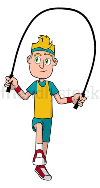 Man jumping the rope. PNG - JPG and vector EPS file formats (infinitely scalable). Image isolated on transparent background.