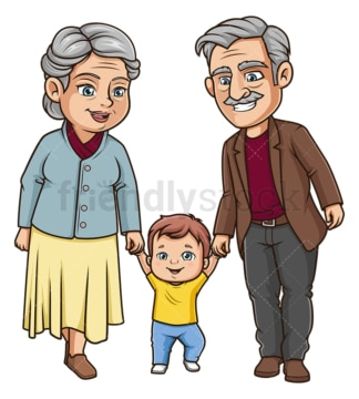 Grandparents with grandchild. PNG - JPG and vector EPS (infinitely scalable).